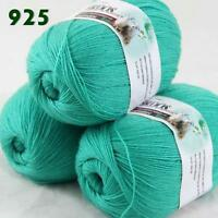 Sale Lot of 3 Balls x50gr LACE Soft Acrylic Wool Cashmere hand knitting Yarn 925