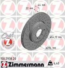 2x ZIMMERMANN Bremsscheibe Bremsscheiben Satz Bremsen COAT Z Vorne 150.2938.20