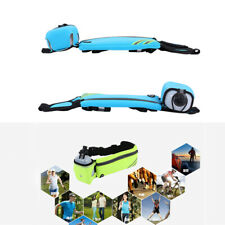 Running Belt With Water Bottle Waist Pack Pockets For Jogging Sports Fitness F