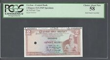 Ceylon 2 Rupees 10-5-1969 P72as Specimen  About Uncirculated