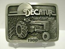 Farmall M Tractor 1988 Decatur Farm Toy Show Pewter Belt Buckle Ltd Ed Spec Cast