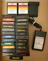 LOT OF 28: Vintage Atari 2600 Games Cartridges - GOOD TITLES 8 MANUALS!