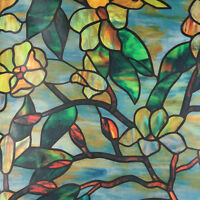 Privacy Window Film Magnolia Floral Set Window Decorative Stained Glass Film