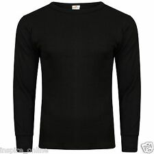 NEW MENS UNDERWAER THERMAL LONG SLEEVE VEST BOYS SKI WINTER BRUSHED CASUAL TOP
