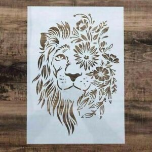 Lion King Of The Jungle  Reusable Stencil  A4  Durable Furniture Wall ART Craft