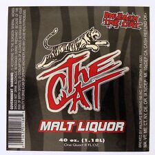 Wildlife Brewing NB Co THE CAT - MALT LIQUOR beer label PA 40oz