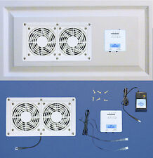 Thermostat-controlled Dual Mega-fan cooling system & multi-speed (white model)