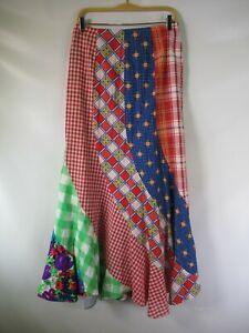 H1103 VTG Women's DIY Multi Pattern Long Flare Skirt Made in USA