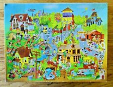 "Pops-Town Springbok Jigsaw Puzzle 500+ Pc  Complete 18"" x 23.5"" Hallmark"