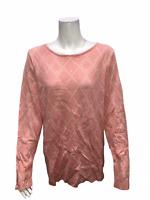 Attitudes by Renee Reversible Jacquard Knit Sweater Rose Quartz X-Large Size