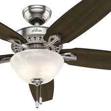 Hunter 52 in. Ceiling Fan with LED Light and 5 Dark Walnut Fan Blades