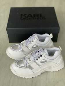 Karl Lagerfeld Quest Hiker Trainers Chunky White Uk 6 Eu 39 BRAND NEW WITH BOX