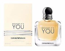 Emporio Armani si è BECAUSE 30 ml Eau de Parfum EDP Nuovo & Sigillato Violoncello