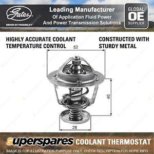 Gates Coolant Thermostat + Gaskets & Seals for Mazda 323 Protege BJ FS 2.0L 98kW