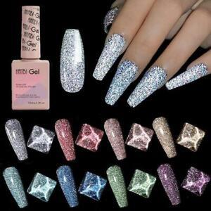 15ml HANBI Soak Off UV Gel Nail Polish Glitter Sequins Nail Art Varnish
