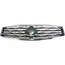 Grille For 2009-2011 Infiniti FX35 FX50 Chrome Shell w/ Gray Insert Plastic