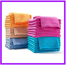 40 Microfiber Towels Clean Home, Auto, Mirrors, Glass, Boats RV  by Campanelli