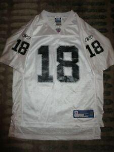 Las Vegas Raiders #18 Moss NFL Reebok Jersey Youth L 14-16 Child