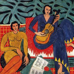 """HENRI MATISSE -  Music 1939 - *FRAMED* CANVAS ART 20x16"""""""