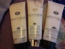 GRACE COLE Boutique Orchid Amber Nectarine Grapefruit & Nectarine Pear Scrubs x3