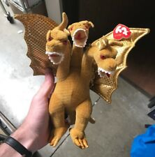"KING GHIDORAH GODZILLA OFFICIAL CLASSIC TY JAPANESE BEANIE BABY BABIES 9"" PLUSH"