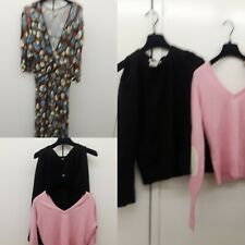 2 Alice & Olivia cashmere pink Sweater Max & Co Dress V Neck Lot As Is Upcycle