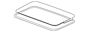 Genuine GM Sunroof Glass 22815953