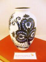Old Tupton Blue & White Sapphire Pattern Tube Line Porcelain Vase (WH_11047)