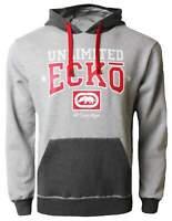 Ecko Mens Anthracite Grey Marl Red Relay Hoodie Hoody [ESK03379] Size S
