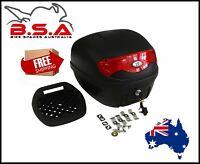 Universal 30L Motorbike Topbox Rear Storage Luggage Top Box Honda Yamaha Suzuki