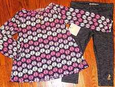 JUICY COUTURE BABY/KIDS GIRLS BRAND NEW 2Pc DRESS LEGGING SET Sz 12-18M, NWT