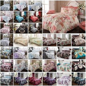 Vintage duvet covers with pillowcases; Superking, King, Double and single