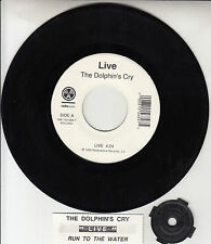 """LIVE  The Dolphin's Cry & Run To The Water 7"""" 45 record + juke box strip RARE!"""