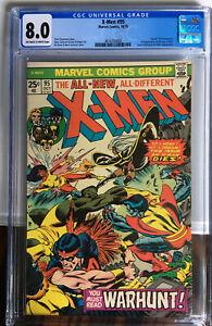 X-MEN 95 CGC 8.0 VF 1975 3rd App New Xmen 4th App Wolverine Death Of Thunderbird