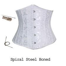 Plus Size Underbust Corset Steel Boning Boned Waist Training Lace up Top Shaper