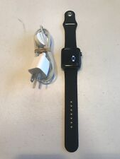 Apple Watch Series 2 42mm Space Gray Aluminum Case Large Black Sport Band #6659