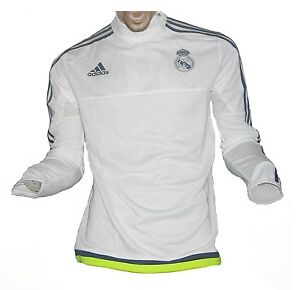 Real Madrid Trainingstop Sweatshirt White 2015/16 Adidas XXL