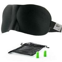 S4U Luxury Patented Contoured & Comfortable Sleep Mask + FREE Ear Plug Set