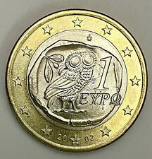 2002 Greece 1 Dollar Euro Repunched Mint Mark Error Uncirculated Coin (1790)