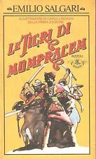 EMILIO SALGARI - LE TIGRI DI MOMPRACEM illustrate da Carlo Linzaghi - BUR 1981
