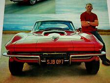 1967 CORVETTE ORIGINAL AD-327/396/427 v8 engine/block/poster/print/c2/vtg/CHEVY