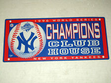 1996 World Series Champions Club House New York Yankees Sign