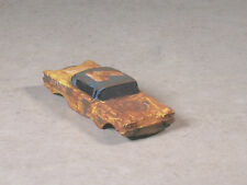Ho Scale Yellow Rusted Out 1958 Chevy Stock Car #7