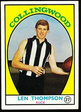 1968 A Scanlens No. 27 Len Thompson Collingwood Magpies Card