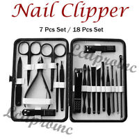 Manicure Set Nail Clippers Cleaner Cuticle Grooming Kit Case Professional Cutter