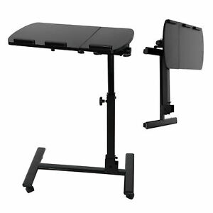 Premium Rolling Laptop Desk Height Adjustable Over Bed Sofa Table Stand