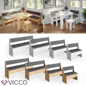 Vicco Eckbankgrupe Küchenbank Roman Sitzbank mit Truhe für Esstisch Küche Bank