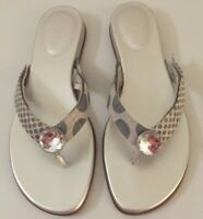 LINDSAY PHILLIPS SWITCHFLOPS SZ 11~SILVER MARIE~FLATS~ONE SET OF STRAPS