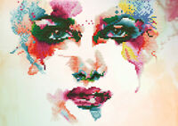 Diamond Painting Kit Dotz 5D 2D Gem RAINBOW DREAM 40 x 28cm Face Watercolour