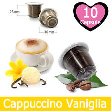 10 Capsule Caffè Kickkick Cappuccino alla Vaniglia Cialde Compatibili NESPRESSO